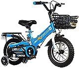 DFBGL Bicicleta para niños, Bicicleta para niños Freestyle Bicicletas para niños y niñas, 3 Colores, 12 Pulgadas, 14 Pulgadas, con estabilizadores, Canasta Delantera, Ruedas de entrenami