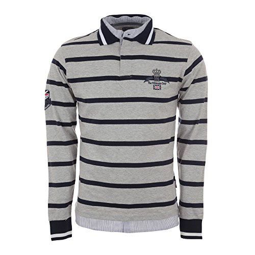 Harry Kayn-Polo Manches Longues Homme CALAORI- Gris-L