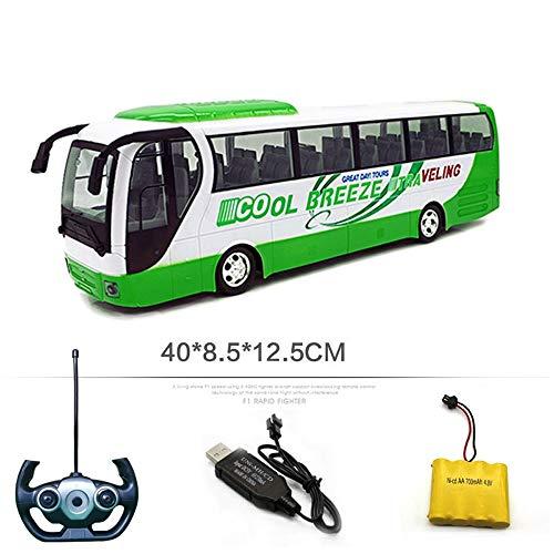 Moerc Muchacha niño del Muchacho Remoto Interruptor de Control de Coches de Juguete eléctrico Mini autobús público Coches Bus Juguetes RC Modelo Puerta Regalos