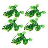 perfk 5pcs Künstlicher Frosch-Köder Angelköder Angelgerät - Grün