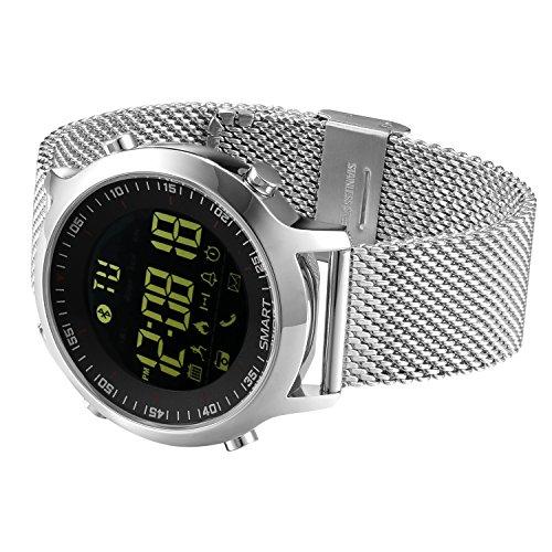 KXCD EX18 Orologi uomo Tracker di fitness intelligente Orologio con pedometro cronometro Orologi donna per telefoni Android iOS