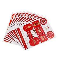 12×2018クリスマススタイルステッカースクラップブックカードクラフトクリスマスギフトバッグシール - 様式2