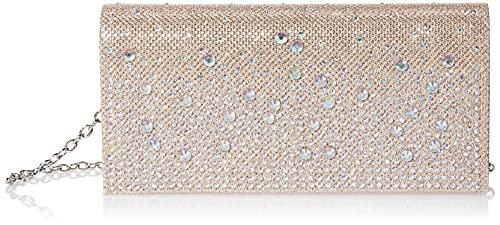 Jessica McClintock Chloe Sparkle Stones Evening Clutch, Champagne