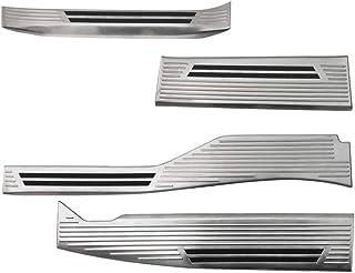 サムライプロデュース ホンダ N-VAN スカッフプレート サイドステップ内側 滑り止め付き フロント・リアセット 4P シルバーヘアライン