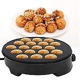 Takoyaki Pan Eléctrico, máquina de Takoyaki para el hogar Octopus Ball Mini bandeja para hornear eléctrica Máquina de desayuno de superficie antiadherente con 18 moldes redondos((Enchufe de la UE))