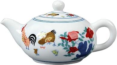 BESTonZON Ceramiczny dzbanek na herbatę kranik malowany porcelana herbata czajnik elektryczny dekoracyjny pojemnik na herb...
