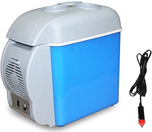 Mini glacière électrique portative AC DC de Frige - 7,5 litres   12V et 230V   bleu pour des camions de voiture de pêche ou un bateau et une prise de courant A ++ (Conception   A 7.5L)