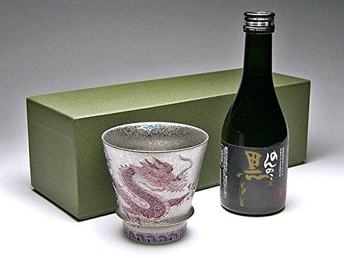 【有田焼】うまい焼酎をもっとうまく!匠の蔵 至高の焼酎グラス 開運龍(赤)&本格麦焼酎