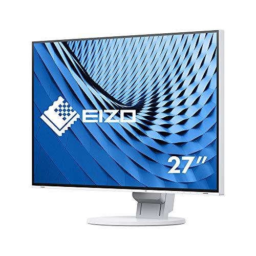 EIZO FlexScan EV2785-WT 68,5 cm (27 Zoll) Ultra-Slim Monitor (HDMI, USB 3.1 Hub, USB 3.1 Typ C, DisplayPort, 5 ms Reaktionszeit, Auflösung 3840 x 2160 (4K UHD)) weiß