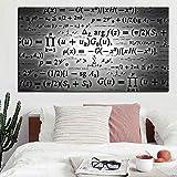 Ciencia Fórmula Matemáticas Pintura digital sobre lienzo Arte Pintura mural Imagen para sala de estar sin marco A 35 x 70 cm