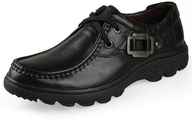 Manliga skor med läderskor, läderskor, läderskor, nya herrskor, lätta att andas för män utan skor med låga ögrönlar (färg  A, Storlek  42)  Toppvarumärken säljer billigt