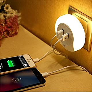 wall light with usb charger
