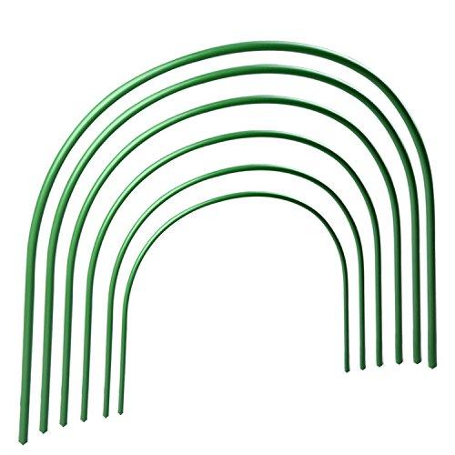 æ— Lot de 12 arceaux de support de jardin, serre, tunnel de culture antirouille pour support de plante, 1,2 m de long en acier avec revêtement en plastique pour le jardin
