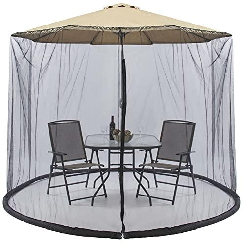 wsqyf Mosquiteros Sombrilla para Patio Al Aire Libre Cubierta De Red Paraguas Romano Instalación Sin Mosquitos Paraguas De Varilla Recta Paraguas De Viaje para Acampar Carpa