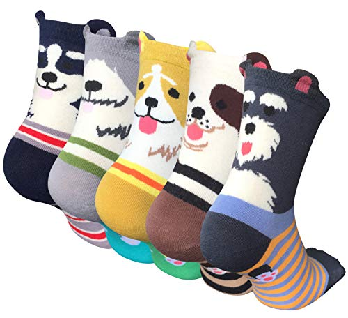 YSense Damen Socken Lustige mit Bunte Tiere Malerei 4/5 Paare Süße Baumwollsocken MEHRWEG