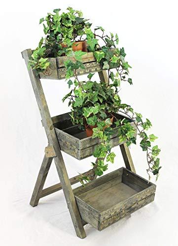DanDiBo Blumentreppe 12068 aus Holz 60 cm Blumenständer Pflanzentreppe Blumenregal Pflanzregal