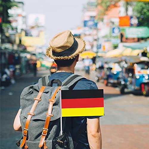Copa de Europa Bandera de Alemana Bandera de Palo Alemania Copa Mundial Fans Support Decoraciones Mini Bandera Pequeña de Mano14*21cm (como se Muestra, C)