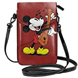 Piccola borsa del telefono cellulare delle borse di Crossbody Mickey che gioca la stampa dello xilofono con le fessure delle carte di credito
