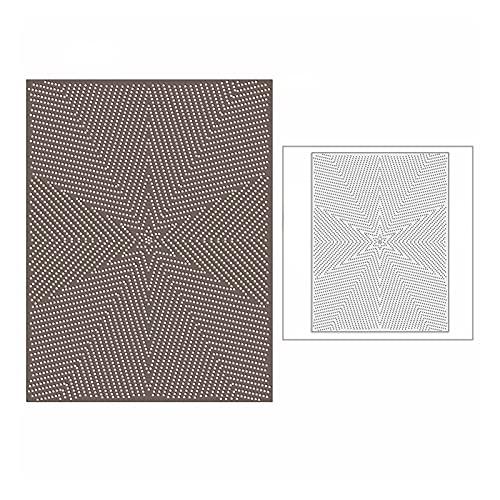 YUYLILI Starty Star Snowflake Panel Mallas de Corte de Metal para la Tarjeta de Scrapbooking de Bricolaje Fabricación de Fondo en Relieve