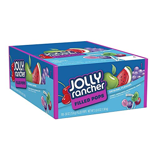 JOLLY RANCHER Filled Pops Lollipops Assorted Flavors 384 Pound 100 Count Box