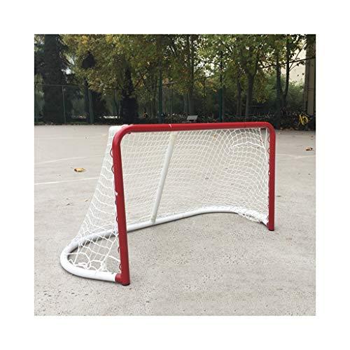 LIULU Hockey-Ziel-Roller Skating Roller Skating-Ball Land Eishockey Spiel Goal Kinder Praxis leicht demontierbar Tragbarer (Color : Red, Größe : 80 * 50 * 40M)