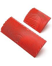 ペンキローラー ウッドグレイニングツール 木目 塗装 パターンローラー 木目ゴム塗装 自分設計 壁装飾 DIY ウッドグレイニング ツール 2個セット 【Glory】