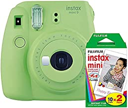 Fujifilm Instax Mini 9 (Lime Green) Instant Camera with Mini Film Twin Pack