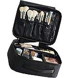 Kisem Bolso de Cosméticos , Portable Kit de Maquillaje Neceser , ( Negro ) Bolsa de Viaje...
