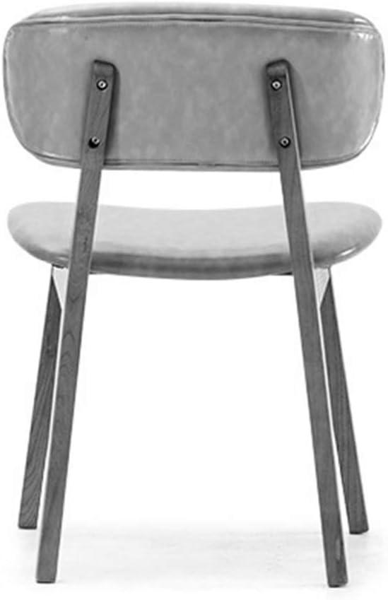 QNN Chaise de Bureau, Chaise Pivotante Maison Chaise de Salle À Manger Cadre En Bois Massif Chaise de Réception de Loisirs - Coussin,Gris Foncé Orange