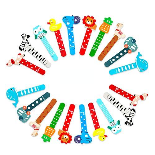 LAMTWEK 20 Pcs Coloratissimi animali segnalibro bambini in legno idea Segnalibro di cartone animato bomboniera battesimo pensierino regalino gadget festa compleanno bambini