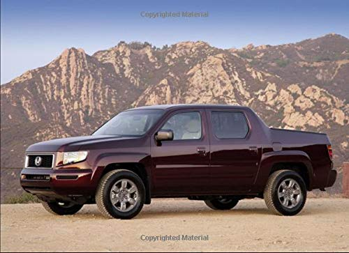 Honda Ridgeline RTX: 120 pages with 20 lines you can use as a journal or a...