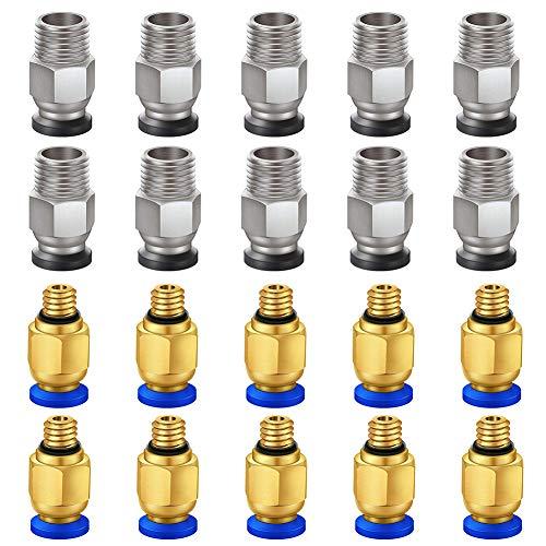 KeeYees 20 Stück Pneumatische Steckverbinder Set - PC4-M6 Pneumatische Straight...