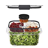 Rubbermaid Brilliance Food Storage & Organization, 4.7 Cup, 0.5 Cup, Clear
