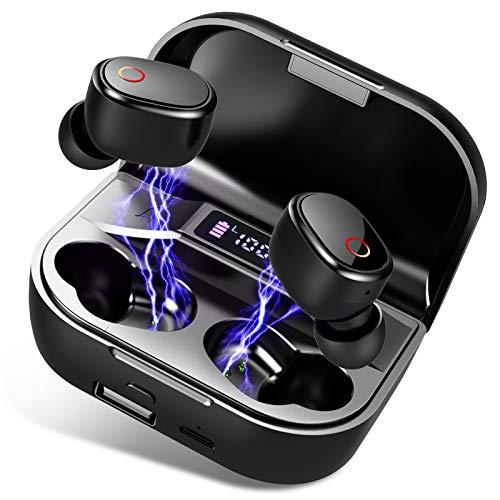 Motast Bluetooth Kopfhörer In Ear, Kopfhörer Kabellos [100H Spielzeit] Kabellose Kopfhörer Bluetooth 5.0 Sport Earbuds, Deep Bass Noise Cancelling Kopfhörer mit Mikrofon, IPX7 Wasserdicht, LED Anzeige