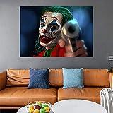ganlanshu Pintura sin Marco Arte de la Pared Pintura de la Lona Payaso Cartel de la película Arte Moderno Decoración del hogar Sala de Estar PosterAY5270 60X90cm