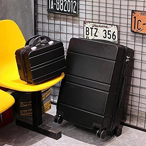 N\C Valigia 4 ruote fine tuning ABS custodia rigida trolley con serratura TSA, valigia portatile + piccola valigia