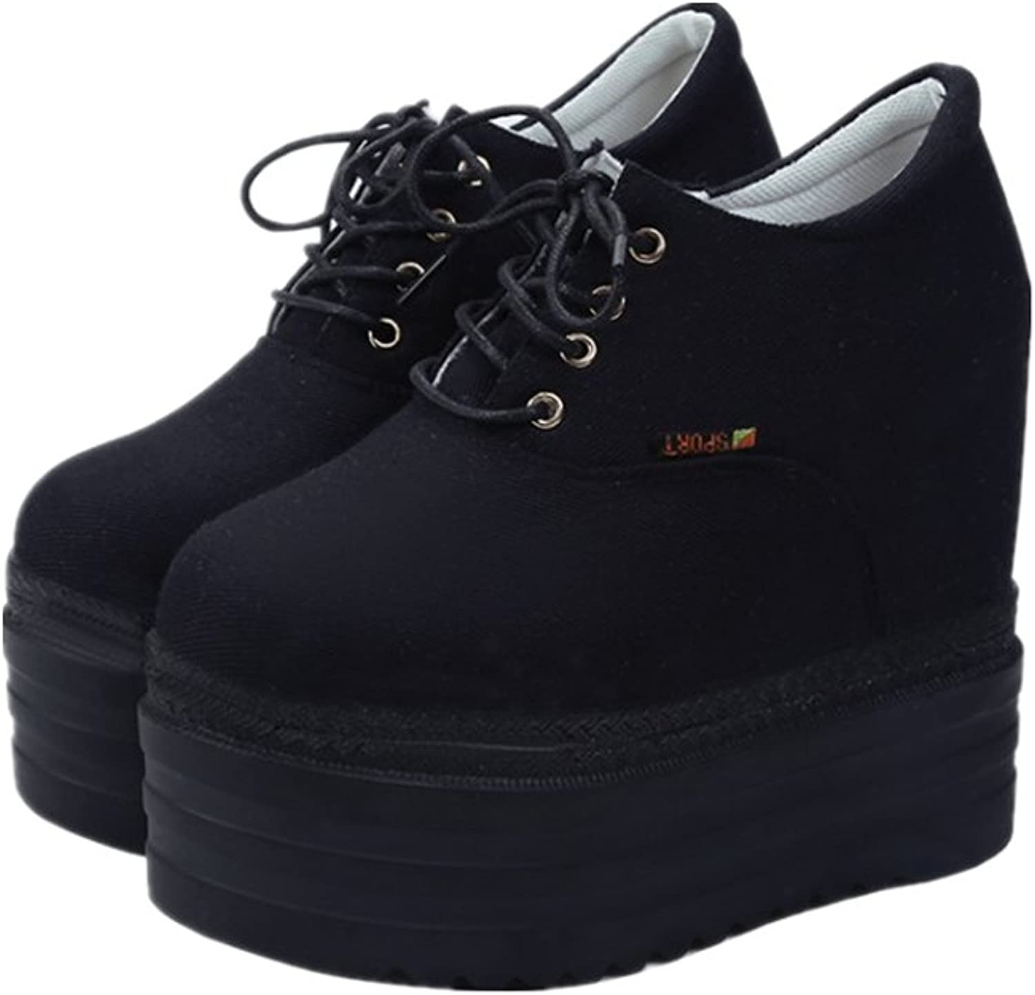 Unyielding1 Height Increase Canvas shoes Woman Hidden Heel Platform shoes White Black Casual shoes Training for Women