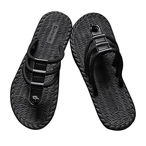 Chanclas Hombre Playa Sandalias con Cordones para Hombre Zapatillas Antideslizantes Ligeras para Interiores Y Exteriores, Punta Abierta, Zapatos Planos Informales, Verano, Moda Al Aire Libre