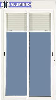 Balconera Aluminio Corredera Con Persiana PVC 1200 ancho × 2185 alto 2 hojas (marco y cajón persiana en kit)