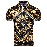 G&Armanis shop Nouveau Polo Slim, Chemise À Manches Courtes À Motif Tendance, T-Shirt À Revers,M