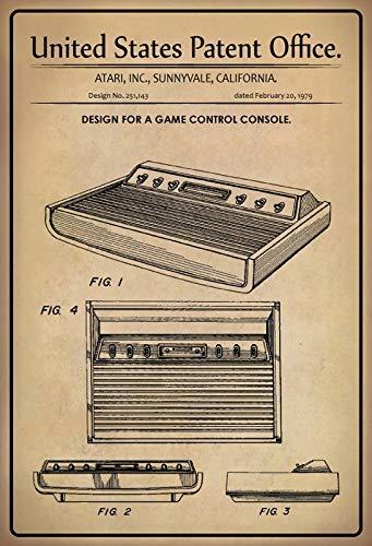 US Patent Atari Consola de Juegos Game Consola 1979 Placa de Metal...