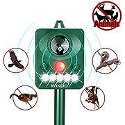 Wikoo Animal Pest Repeller, Solar Powered Ultrasonic (Green)