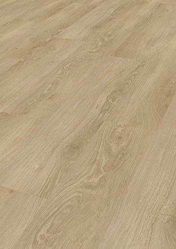 Tepcor Klick Vinylboden Premium Vinylbodenbelag mit Klicksystem Pflegeleichte und wasserfeste Vinyl Bodenbeläge in vielen verschiedenen Farben (Schlosseiche)