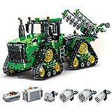 WANZPITS Technische Traktoren 7119 Baukasten; RC All-Runde Mobilität MOC-Traktoren Modell Für...