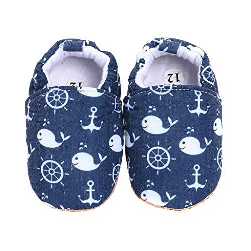 Baby Shoes Stivaletti Neonato Scarpe Infanzia Ciabatte Bambino Scarpette 0-18 Mesi (Oceano, Numeric_18)