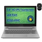"Flagship Lenovo Chromebook Flex 3 2 in 1 Laptop 11.6"" HD IPS Touchscreen MediaTek Quad-Core MT8173C Processors 4GB RAM 32GB eMMC USB-C HDMI WiFi Bluetooth Dolby Chrome OS + iCarp Wireless Mouse"