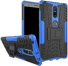 Lenovo Phab 2 Plus -Heavy Duty Armor Hybrid ShockProof Hard Back Case Cover -Blue