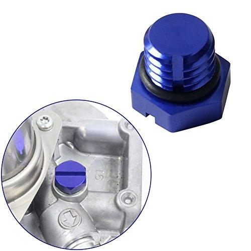EARLY BUS Aluminum Air Bleeder Screw for GM 2001-2017 Fuel Filter Housing Compatible Replacement (6.0/6.6L) Duramax Diesel LB7, LLY, LBZ, LMM, LML (blue)