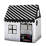 Floving Girls Indoor Spielzelte für Kinder Eisdiele und Bäckerei Playhouse Palace Zelte (Schwarz /...