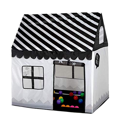 Benebomo Girls Indoor Outdoor Play Tents Kids Playhouse Palace Tents(Black/white)